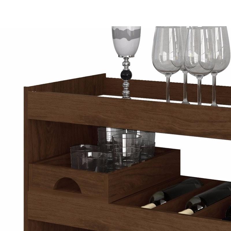 Aparador Bar Adega Extra ~ Aparador Bar para Sala com Rodízios Lorenzo 4030 Loja de Móveis e Sofá Castelo dos Móveis RJ
