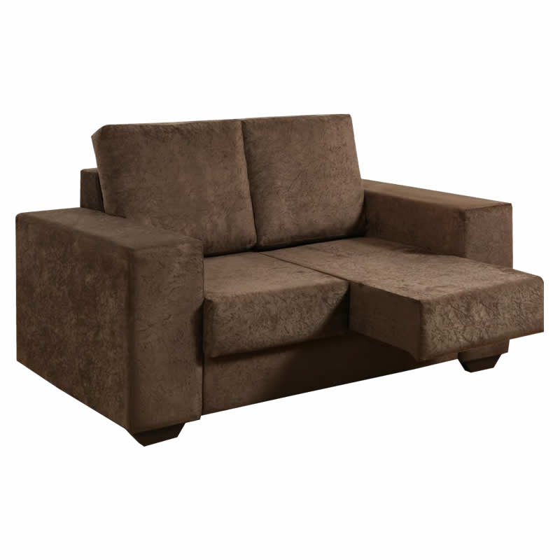 Sofa com chaise retratil 2 lugares for Sofa 03 lugares com chaise