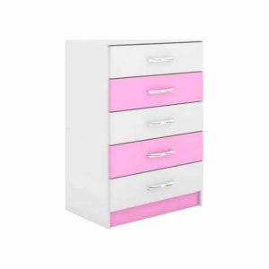 comoda-5-gavetas-rosa