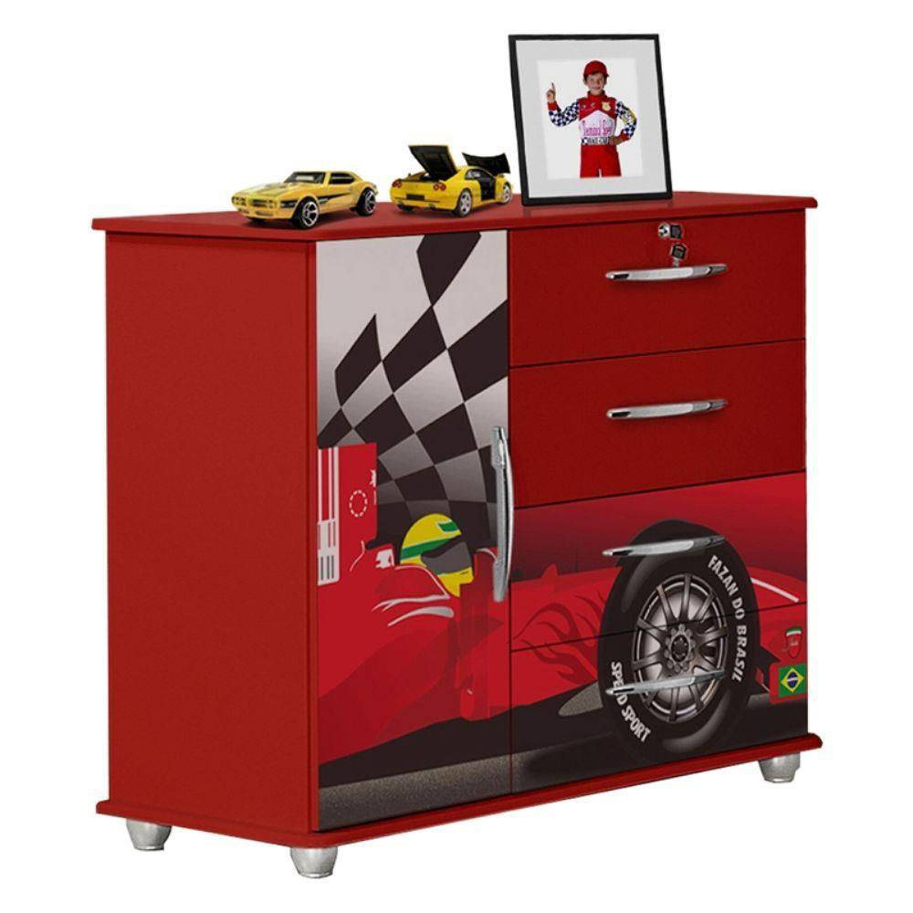 08d5854bf9441 Cômoda Infantil Carro Fórmula 1 - Vallen Móveis - Loja de Móveis e ...