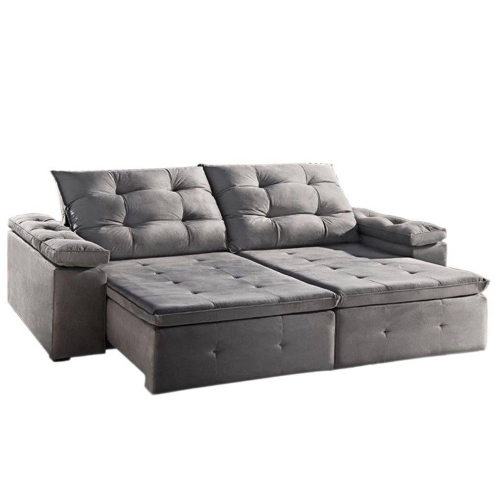 Sofa Retratil E Reclinavel Zeus 2 30m Tecido Suede