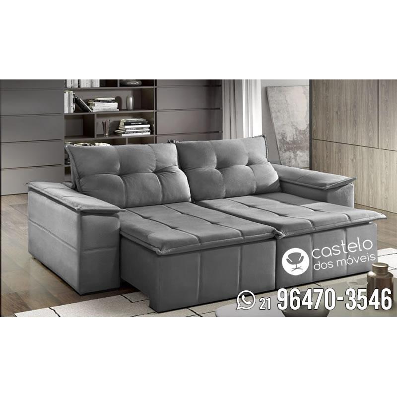 sof retr til e reclin vel aquiles 2 30m tecido suede loja de m veis e sof castelo dos. Black Bedroom Furniture Sets. Home Design Ideas