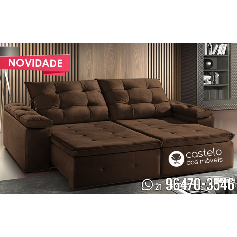 sof retr til e reclin vel zeus 2 30m tecido suede. Black Bedroom Furniture Sets. Home Design Ideas