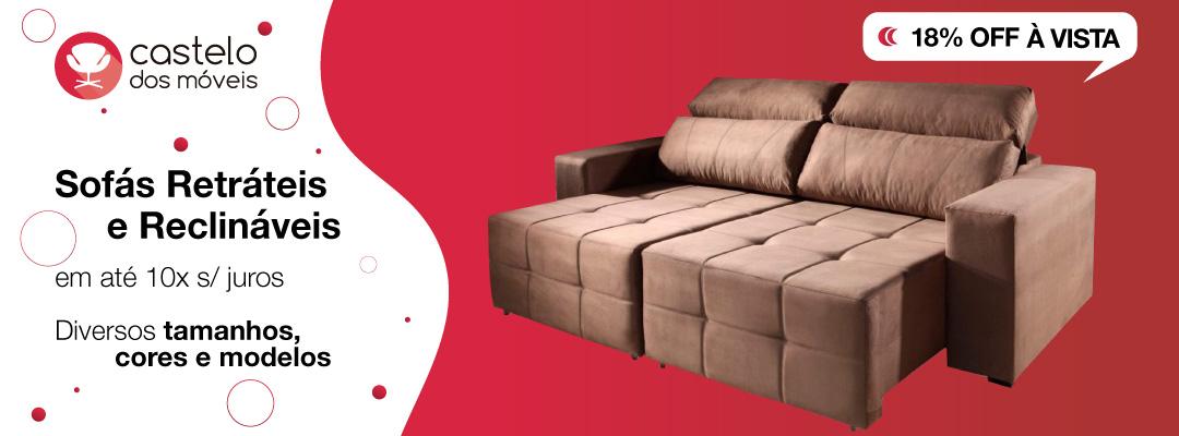 Sofás retráteis e reclináveis
